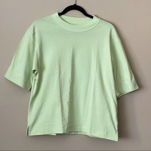 Uniqlo green boxy short-sleeve tee